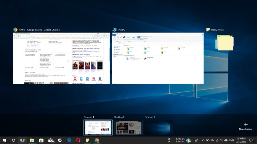 how to move between applications on desktop