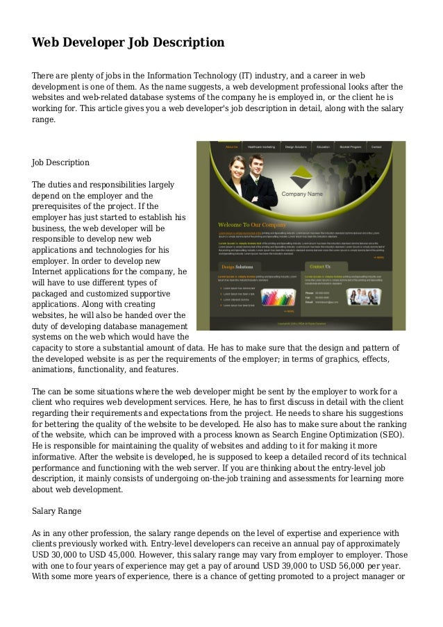 linux application developer job description
