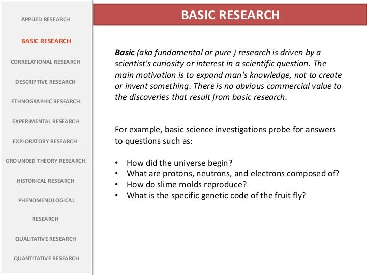 describe some different types of basic applications