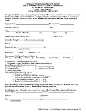 application form for a license that your organisation requires