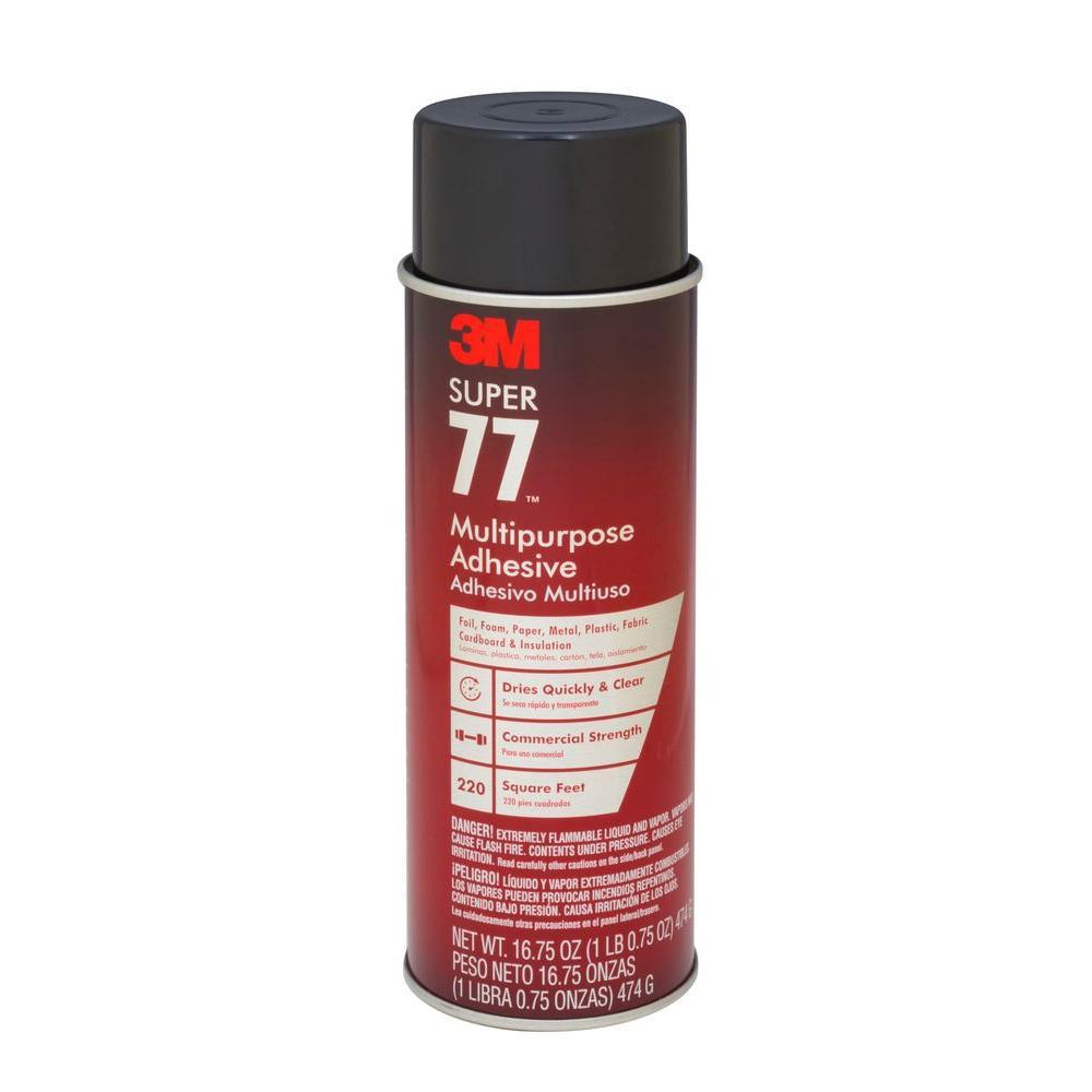 3m spray adhesive application chart