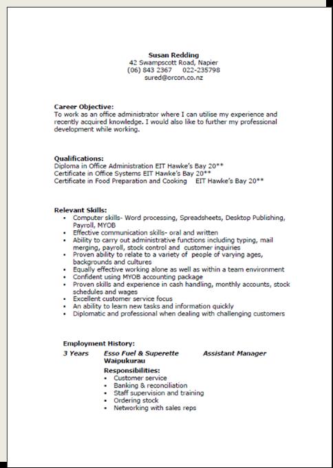 job application letter template nz