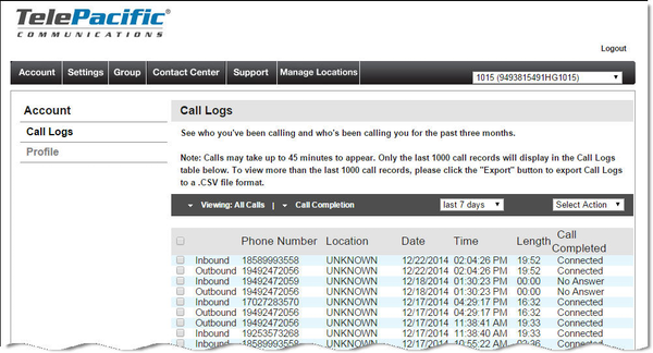 is call logs a mobile phone application