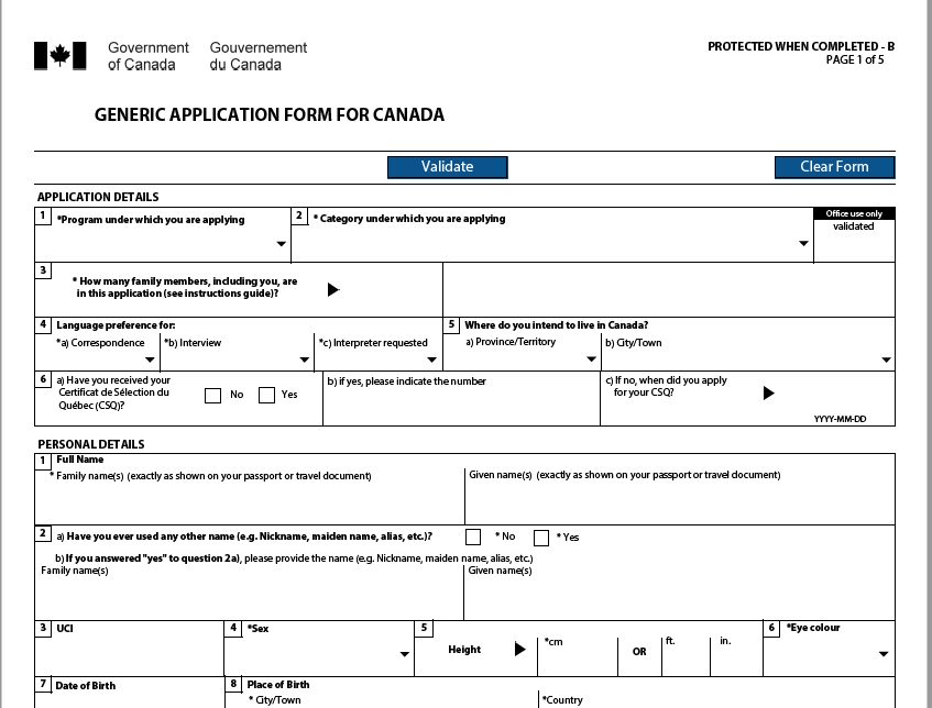 imm 0008 generic application form for canada english