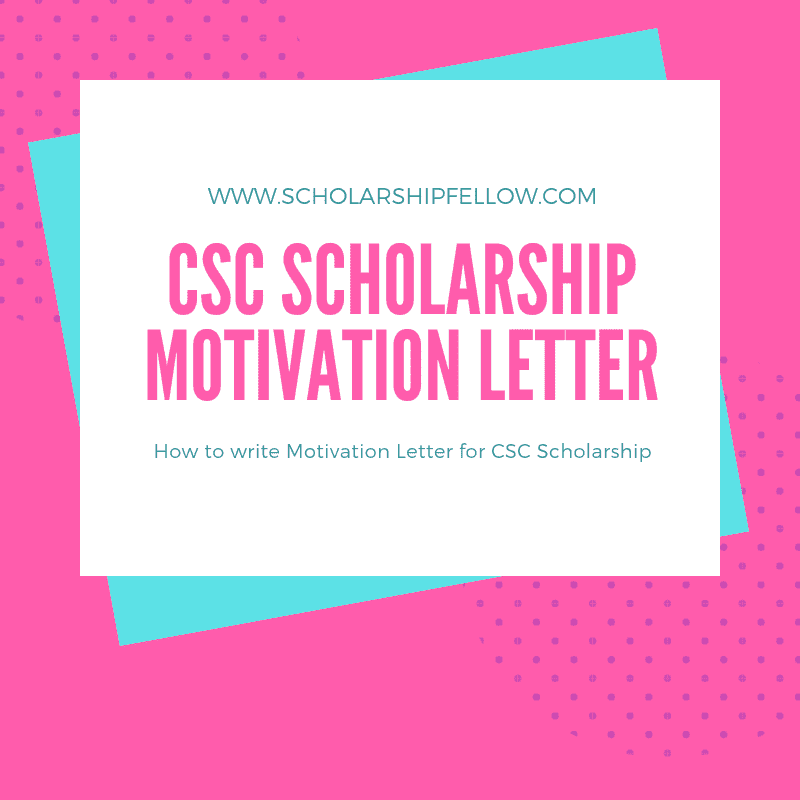 how to write a motivation letter for a bursary application