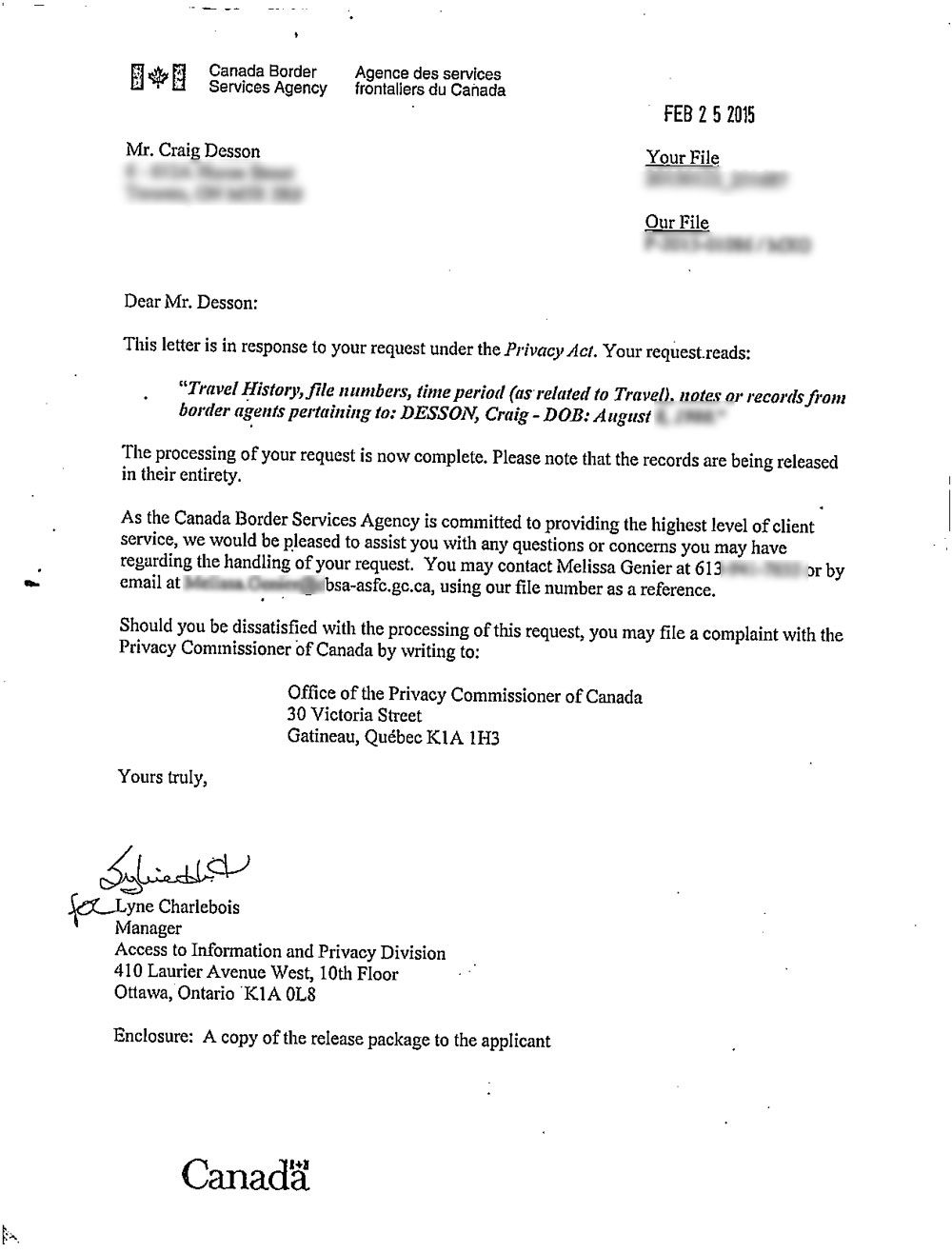 cover letter for application in quebec immigration