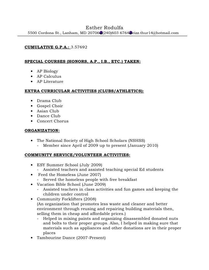 can you put past extracurricular activites on application