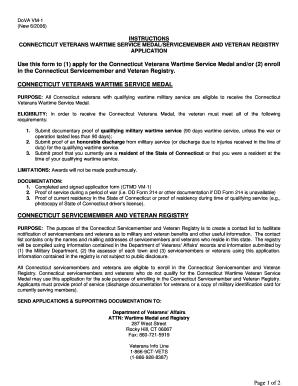 dva application forms for sinusitis