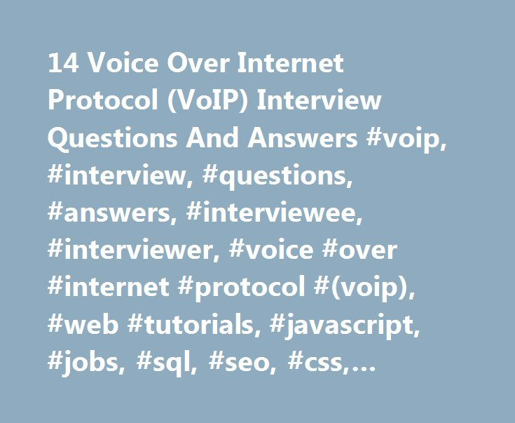 voice over internet protocol applications