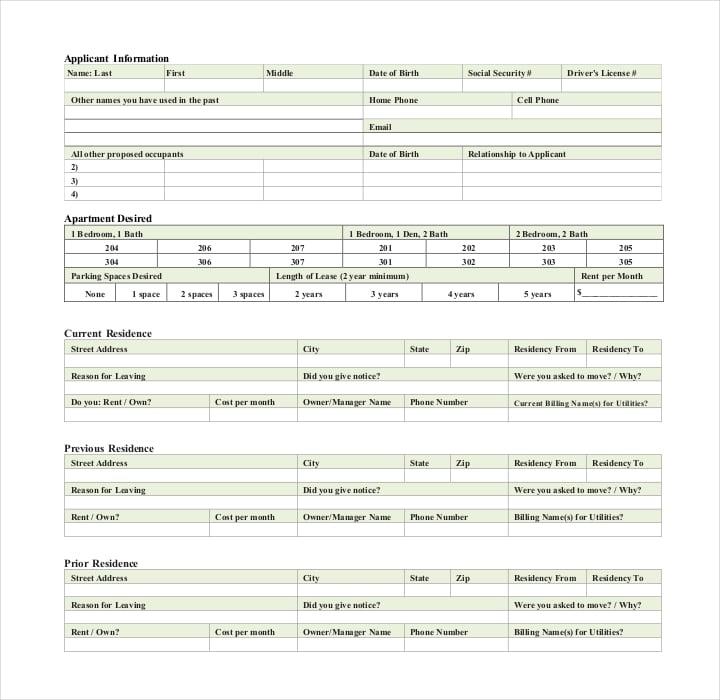 rta application for residential tenancy