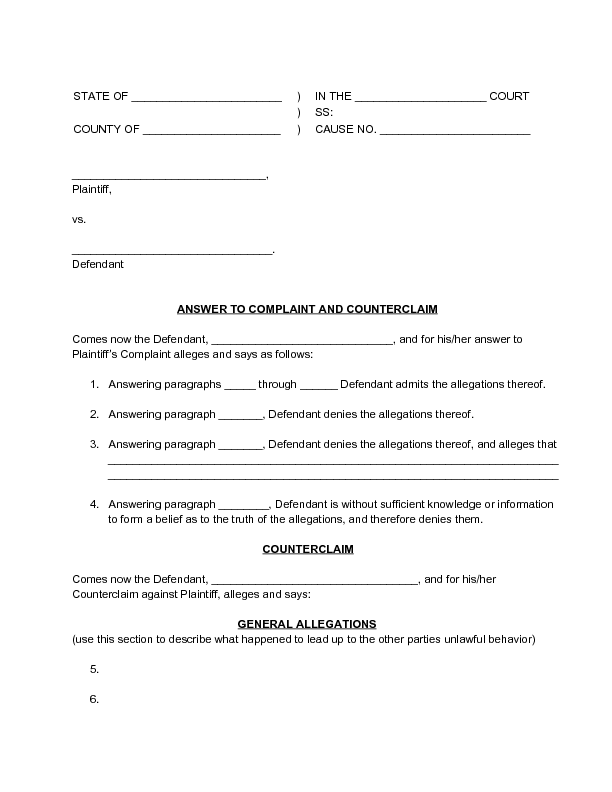 application to strike out defence and counterclaim