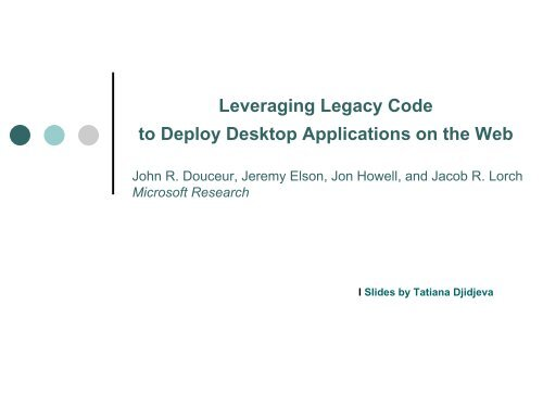 as-is document of a legacy application