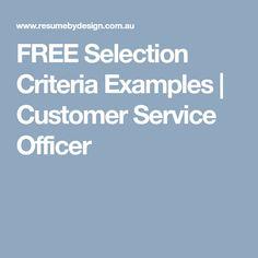 job application response to selection criteria