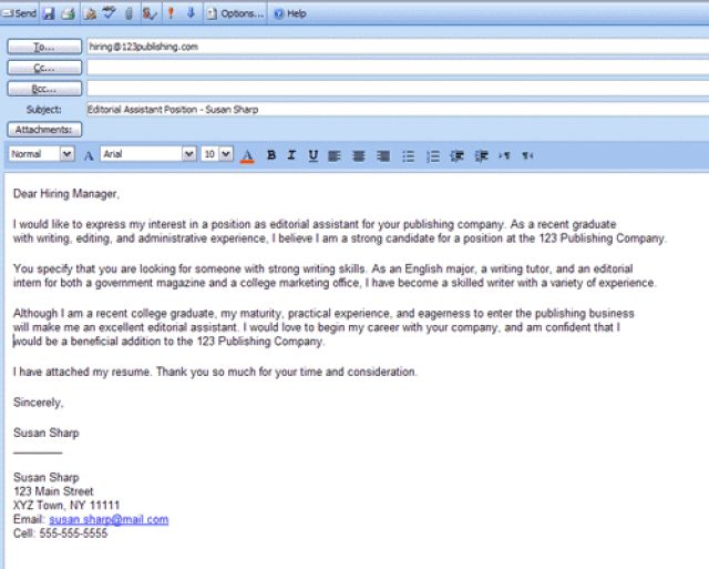 professional job application cover letter examples