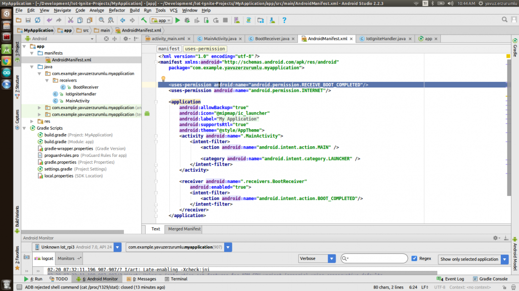 starting android application at boot